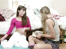 Brother Seduce His 2 Step-Sister To Get First Lesbian Sex