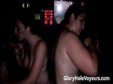 Melanie Hicks & Phoenix Wild Suck Cocks In Gloryhole