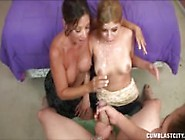 Mother And Daughter Tag-Handjob