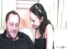 Skinny Braces Daughter Seduces Step Dad
